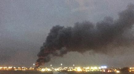 Huge fire sends thick plume of smoke into air near Heathrow Airport