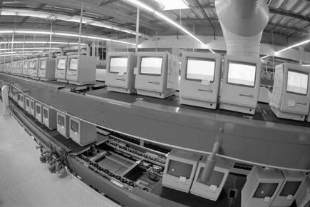 The Apple Computer Inc., manufacturing plant in Milpitas, Calif., producing Macintosh computers, is shown in this Feb. 24, 1984 phot