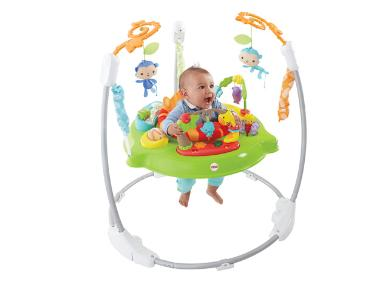 Baby in Fisher-Price Roaring Rainforest Jumperoo