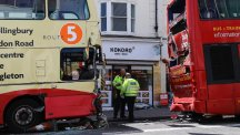 Sussex Police declared the bus crash in Brighton a major incident. (Picture: Christopher Pope)