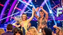 Caroline Flack became the first contestant to secure three perfect 40 scores in the Strictly Come Dancing final