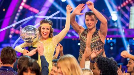 Caroline Flack and Pasha Kovalev have been crowned winners of Strictly Come Dancing (BBC/PA)
