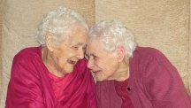 Florence Davies & Glenys Thomas claim to be the UK's oldest twins at 103