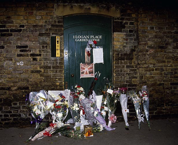 Tributes left outside Freddie Mercury's home
