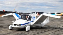 Flying car set for take-off