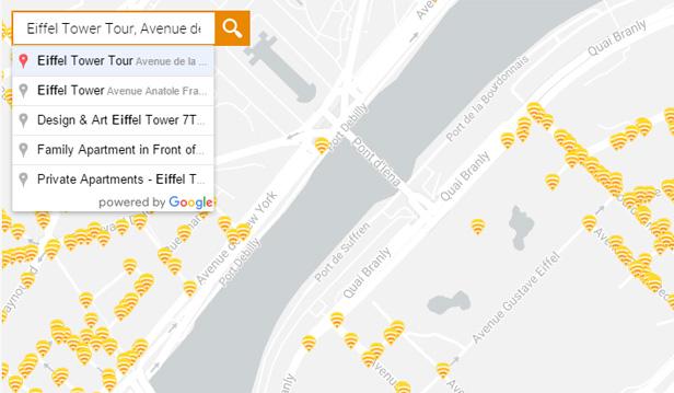Fon hotspots Paris