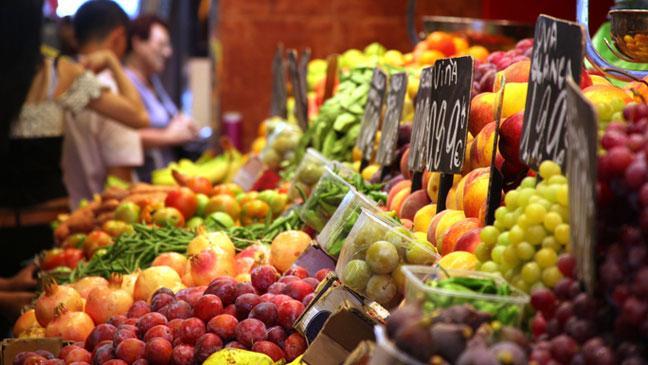 A Food Market In Spain