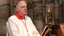 Former Archbishop of Westminster 'seriously ill' in hospital
