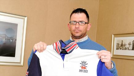 Richard Monteith with his Union Jack polo shirt