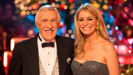 Sir Bruce Forsyth and Tess Daly on the Strictly Come Dancing Christmas Special
