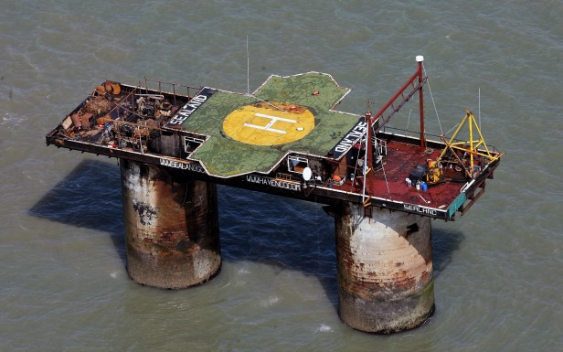 Rough Sands fort, since 1967 the independent Principality of Sealand.