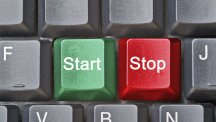 Start stop keys on a keyboard