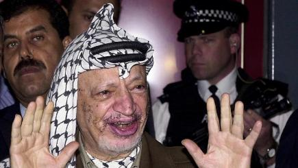 Ex-Palestinian leader Yasser Arafat died in a suburb of Paris in 2004