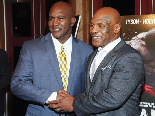 Holyfield and Tyson together in New York in March 2015.