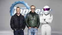 New Top Gear presenter Matt LeBlanc with Chris Evans and The Stig (BBC/PA)