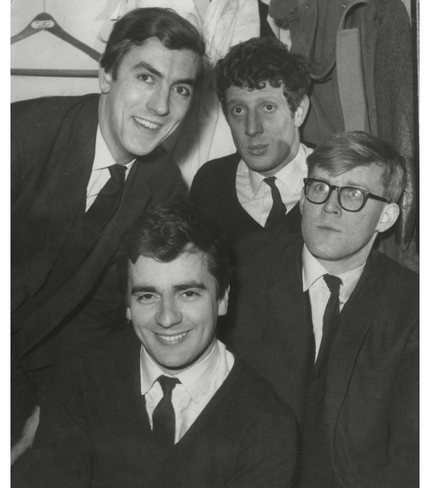 (Clockwise from top left) Peter Cook, Jonathan Miller, Alan Bennett and Dudley Moore.