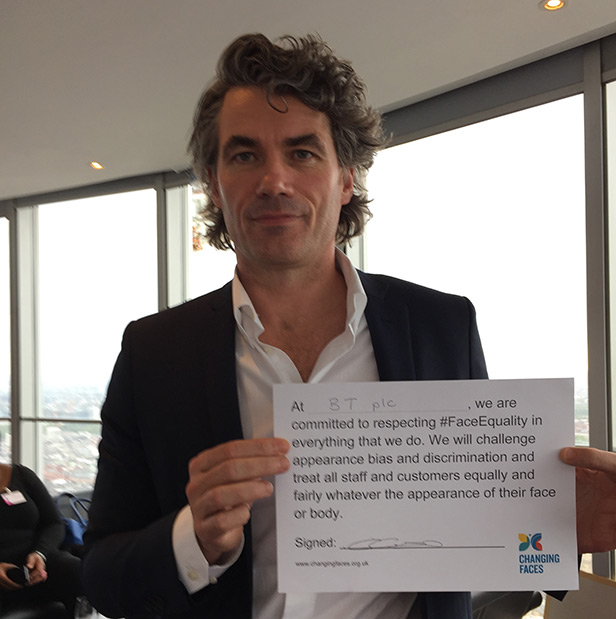Gavin Patterson signed the Face Equality pledge