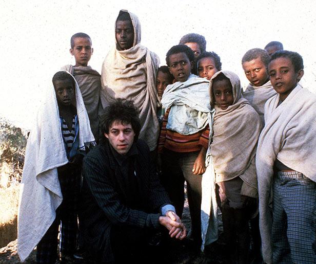 Bob Geldof visits Ethiopia