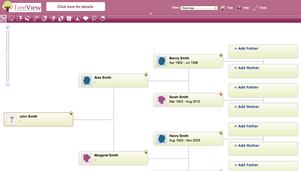 The Genealogist – Treeview