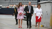 The Duke and Duchess of Cambridge with Prince George and Princess Charlotte arrive in Canada