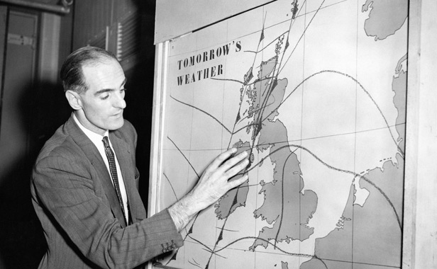 George Cowling - weather map - PA