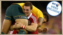 George North carries Israel Folau - the story behind the photo