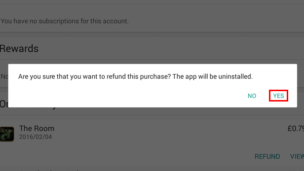 Getting a refund on Google Play