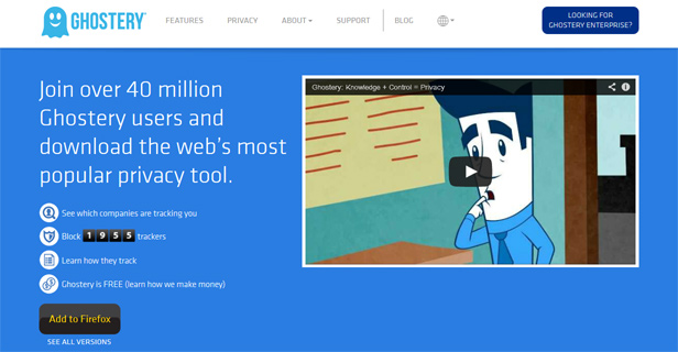 Ghostery website screenshot