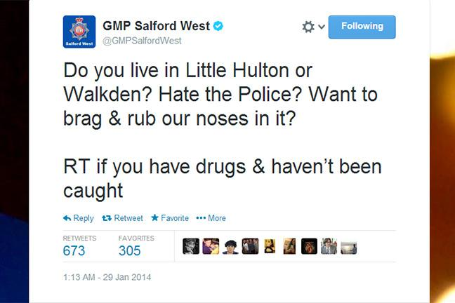 Tweet us if you're a drug dealer, say Manchester police - BT