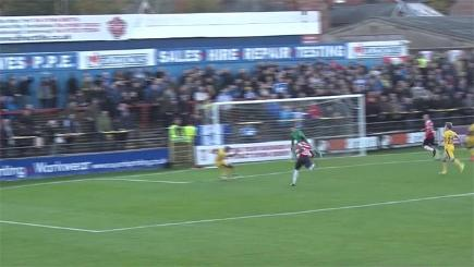 Chester player misses shocking open goal