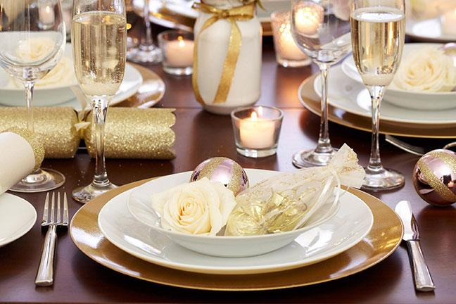 Gold Paper Party Plates