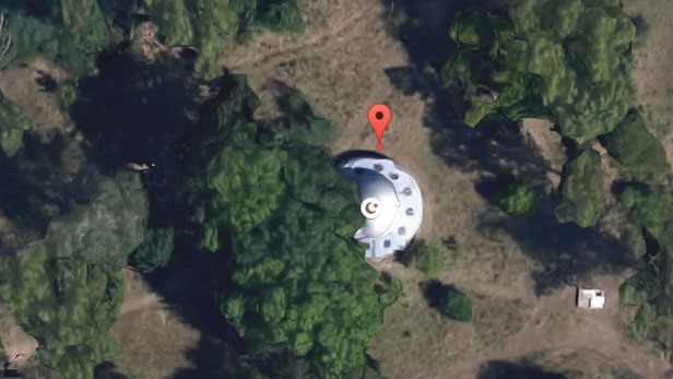 Aliens on Google Maps