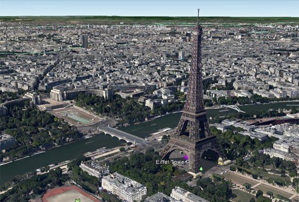 Google Earth 3D cities - Paris