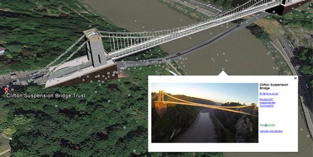 Google Earth user photographs - Clifton Suspension Bridge