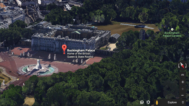 Google Earth Buckingham palace