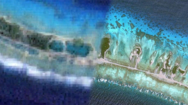 Hidden places on Google Maps - Moruroa, French Polynesia