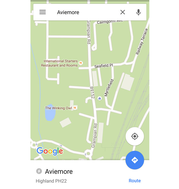 Google Maps viewing offline maps