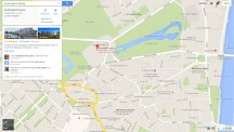 Google Maps screenshot Buckingham Palace