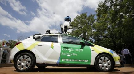 Google Street View catches its own car speeding