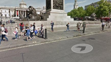 Google Street View of Trafalgar Square