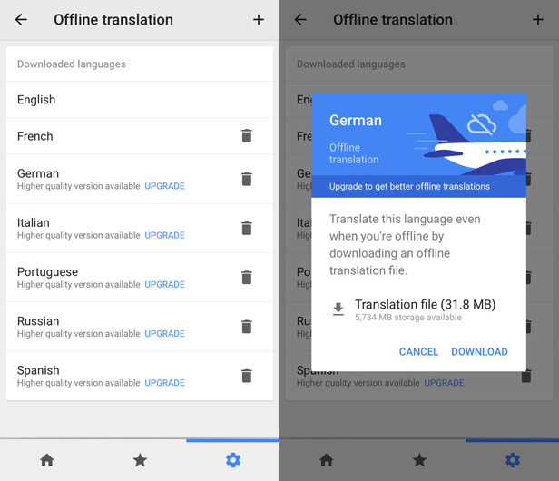 google translate french to english