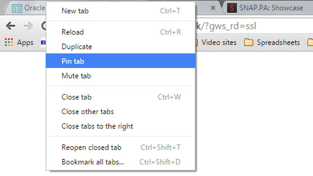 Shortcuts for Google Chrome