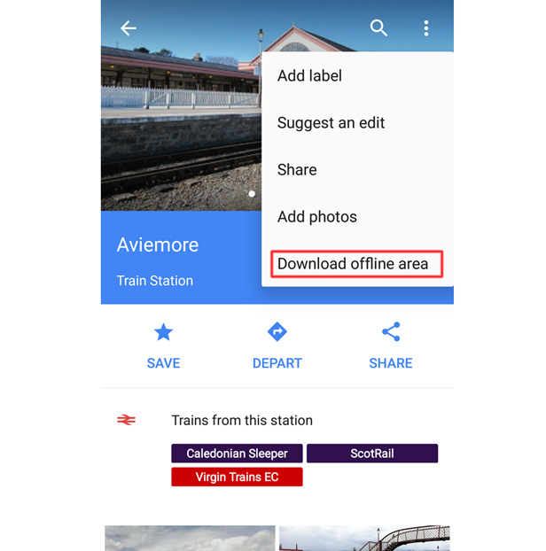 Screenshot Google Maps offline 1