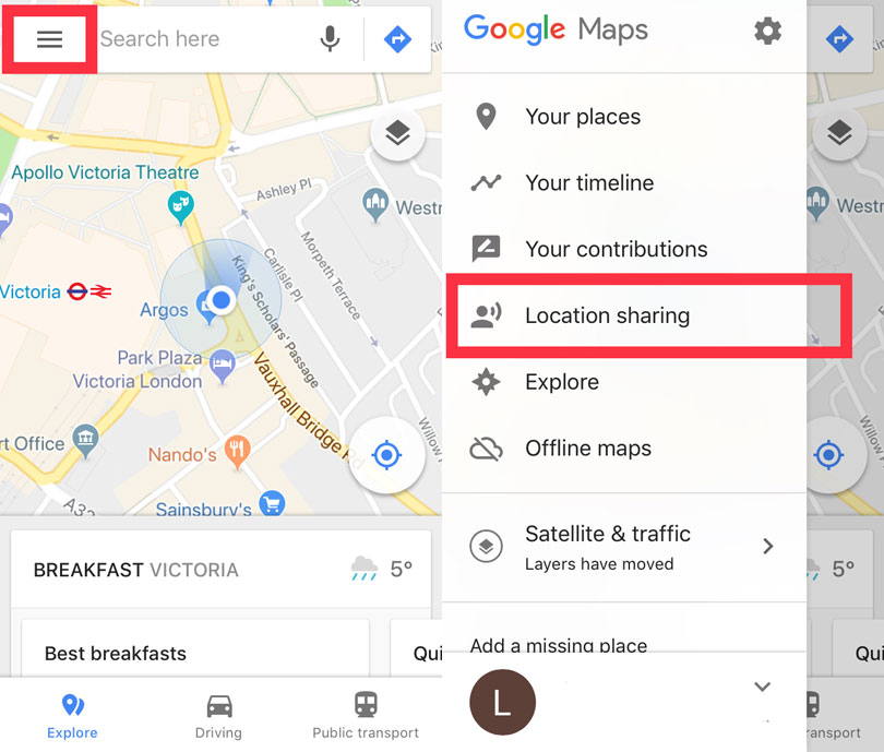 Google Maps Getting Real Time Location Sharing For Iphone