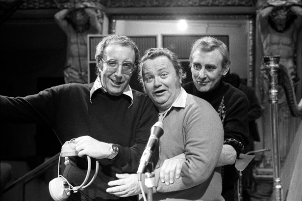 Sellers with fellow Goons Harry Secombe and Spike Milligan in 1972.