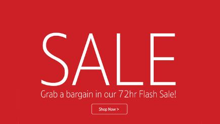 Grab a bargain in our 72hr Flash Sale!