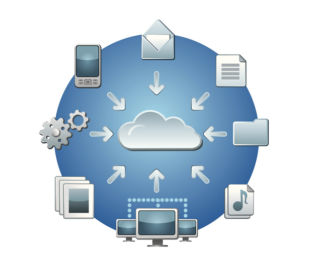 Different devices using the cloud