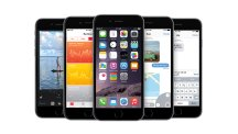 Group of iPhones with iOS 8