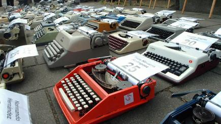 Group of typewriters
