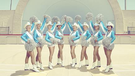 Group shot of cheerleaders
